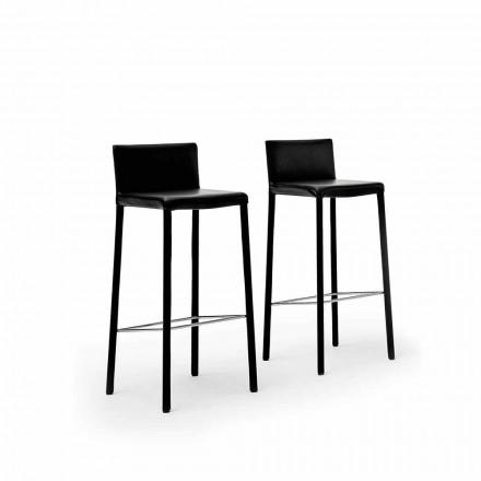 Dizajni i stolave të çelikut të veshur me susta në lëkure Faux, lëkure ose fshehur - Model Pitt