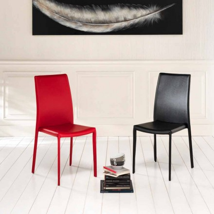 Seti i 4 karrigeve moderne eko-lëkure Gioia