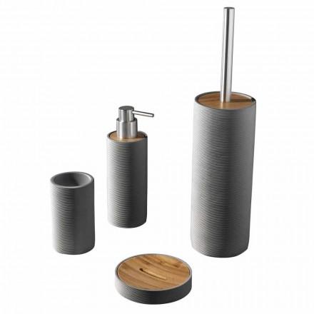 Komplet i aksesorëve të banjës Countertop me të bardha ose gri - rrëshirë dhelpra