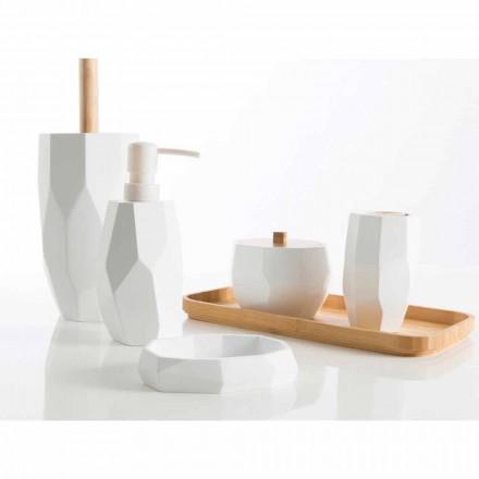 Dizajn i aksesorëve të banjësve të bëra me dru dhe rrëshirë Rivalba