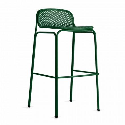 Lëndë të larta stola të jashtme në bar në metal, 2 copë - Viviette