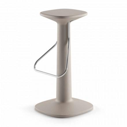 Stol i lartë me dizajn në polietileni dhe çelik inox i prodhuar në Itali - Pito