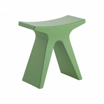 Stool i jashtëm me dizajn të ulët në polipropileni të bërë në Itali - Prue