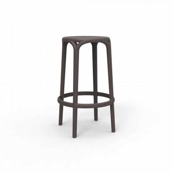 Brooklyn nga stol në natyrë Vondom në polipropileni, H 76 cm, 4 copë