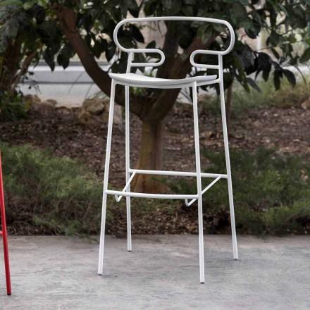 Stol i jashtëm në metal të pikturuar dhe poliuretani të prodhuar në Itali - Trosa