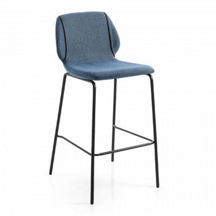 Dizajn modern Stol elegant i dhomës së ndenjes në pëlhurë me bordurë - Scarat