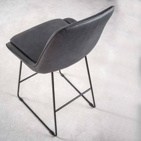 Stool me dizajn modern me pllaka metalike të lyer - Ines