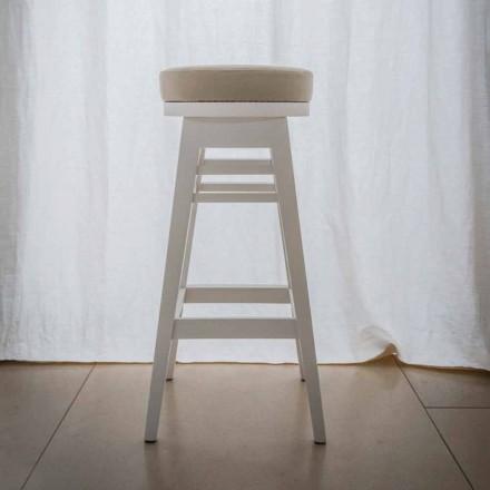 Dizajni i stolit në dru të ahut të llakuar H 78 cm, Harvey, 2 copë