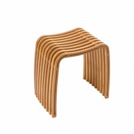 Stola banjo e projektuar e prodhuar në Gorizia me bambu të lakuar të nxehtë