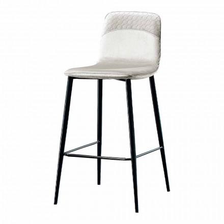 Stol elegant i dizajnit modern në kadife dhe metal me ngjyra - Bizet