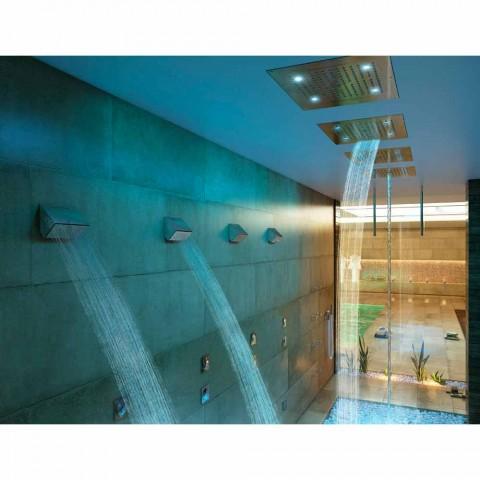 Koka e dushit me kromoterapi dy avionë të dizajnit modern