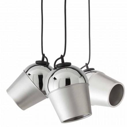Pezullimi me tre llampa metalike Magnet - Toscot