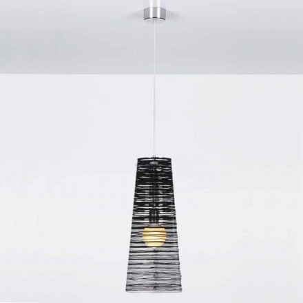 Llambë varëse varëse me dizajn Shana, me dritë prej 25 cm diamant