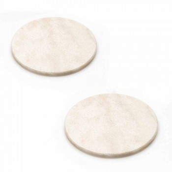 Coasters moderne në Mermer me ngjyra Made në Itali, 2 copë - Nessa