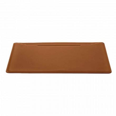Prodhuar në Itali Tavolina Tabelë në Lëkurë të Rigjeneruar me Stilolaps - Ebe Qepje