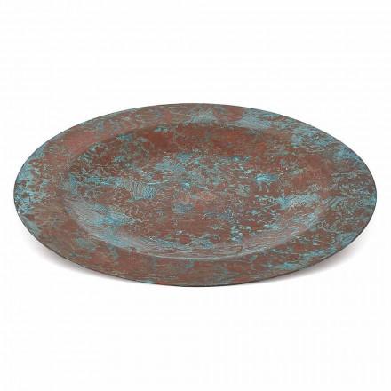 Placemat prej bakri jeshile ose kafe të konservuar me dorë 6 copë 28 cm - Rocho