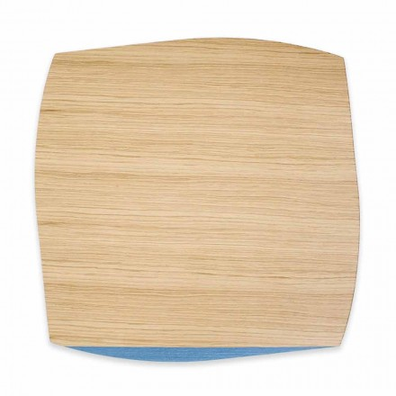 Placemat Moderne Sheshi në Oak Wood Made në Itali, 4 copë - Abraham