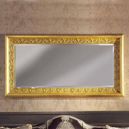 Pasqyrë moderne e punuar me dorë me mur druri të prodhuar në Itali Enrico