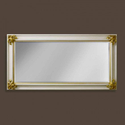 Pasqyrë muri prej druri të punuar me dorë të dizajnit modern të bërë në Itali Stefano