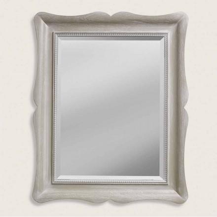 Pasqyrë muri prej druri me dizajn modern, prodhuar në Itali, Angelo