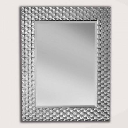 Pasqyrë mur argjendi / ari në dru, prodhuar në Itali, Giuseppe