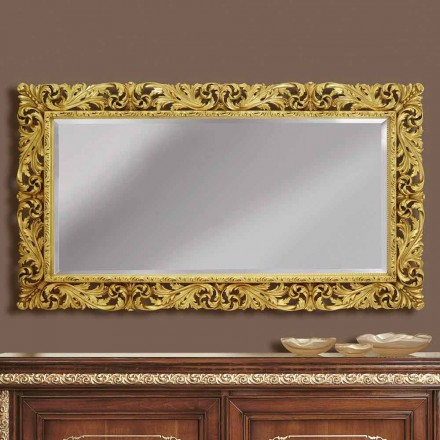 Pasqyrë muri prej druri me linja moderne, të punuar me dorë në Itali, Alex