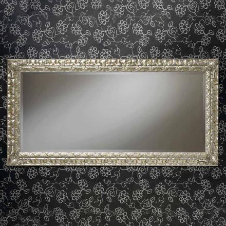 Pasqyrë prej druri drejtkëndëshe e punuar me dorë, e bërë në Itali, Nicolò
