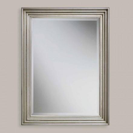 Pasqyrë muri prej druri prej ari / argjendi të punuar me dorë, prodhuar në Itali, Stefania