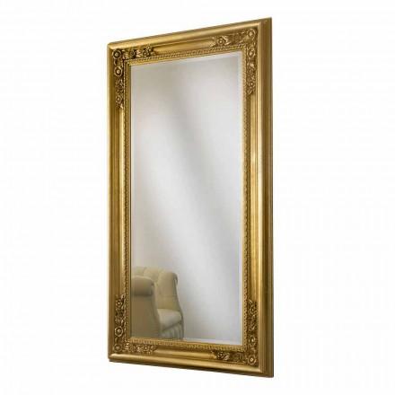 Pasqyrë e murit prej druri prej ari / argjendi, punuar me dorë në Itali, Michele