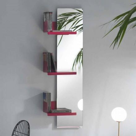 Pasqyrë muri dhe rafte metalike me ngjyra 3 dizajne luksoze - Noelle