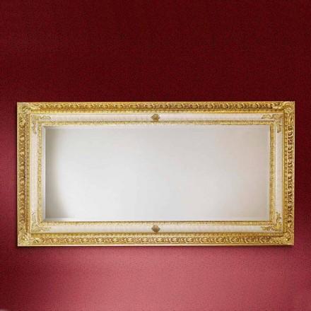 Pasqyrë mur prej druri drejtkëndor, prodhuar në Itali, Raffaello
