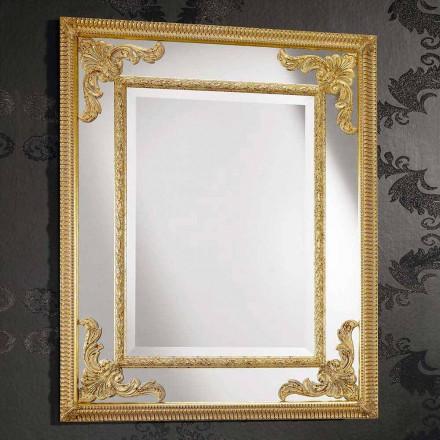 Pasqyrë mur drejtkëndëshe në dru, prodhuar në Itali, Valentino