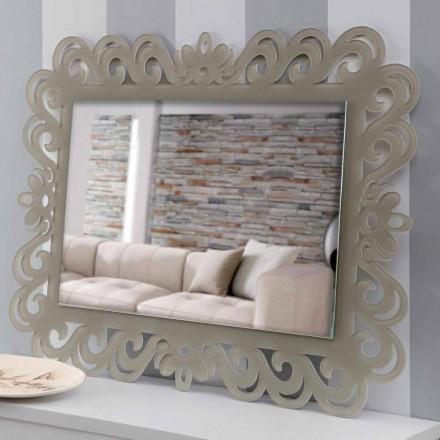 Pasqyrë mur drejtkëndëshe në dizajn modern në Plexiglass Tortora - Selly