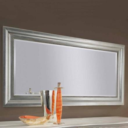 Pasqyrë muri prej druri prej ari / argjendi të punuar me dorë, prodhuar në Itali Alessandro