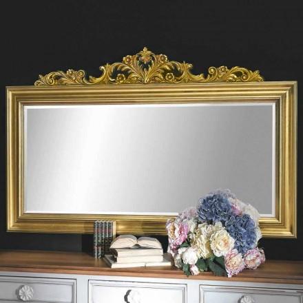 Pasqyrë muri i punuar me dorë në dru dhe fije rrëshire prodhuar në Itali Matteo