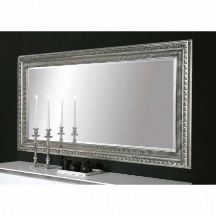 Pasqyrë muri prej druri të punuar me dorë Claudio moderne, i bërë në Itali