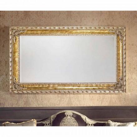 Pasqyrë mur drejtkëndëshe me linja moderne, të bëra në Itali, Umberto
