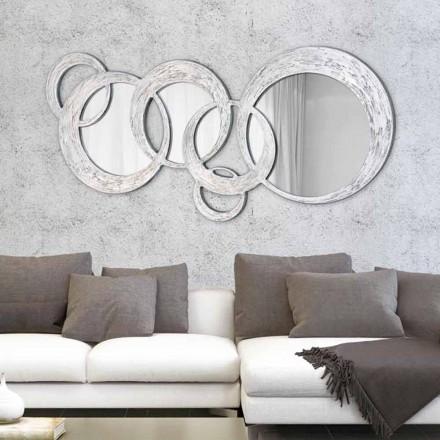 Rrobat Mirror Designer Wall nga Viadurini Decor, bërë në Itali