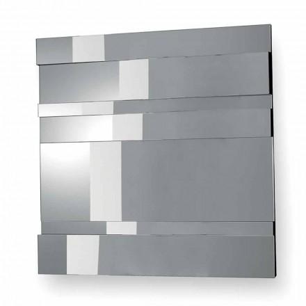 Pasqyra e murit me dizajn modern në qelqi dhe metali të bërë në Itali - Pallino