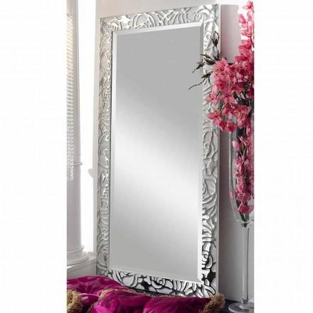 Pasqyrë mur prej druri me dizajn modern, prodhuar në Itali, Augusto