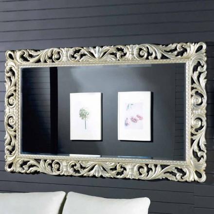 Pasqyrë e murit me dizajn modern në një dru ayous, i bërë në Itali, Nicola