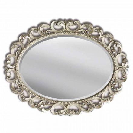 Pasqyra moderne e punuar me dorë geloton prej muri, prodhuar në Itali, Dario