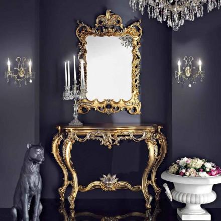 Pasqyrë muri prej druri dhe tastierë me tavolinë mdf të bërë në Itali Andrea