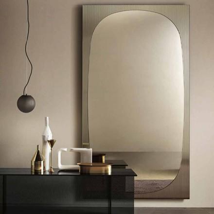 Pasqyra moderne e murit me pasqyrë bronzi të bërë në Itali - Bandolero