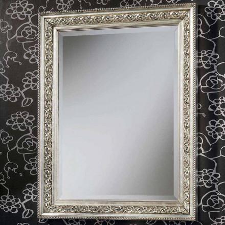 Pasqyrë moderne e murit në dru, plotësisht e punuar me dorë në Itali, Piero