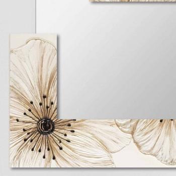 Pasqyrë moderne e murit në rrëshirë të prodhuar në Itali Sacile