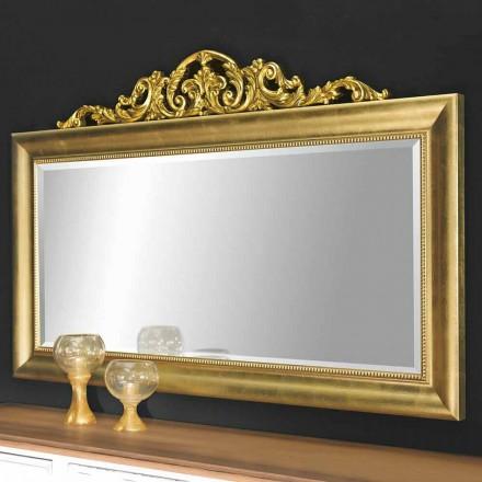 Pasqyrë murale moderne e bërë nga druri, e prodhuar plotësisht në Itali, Kevin