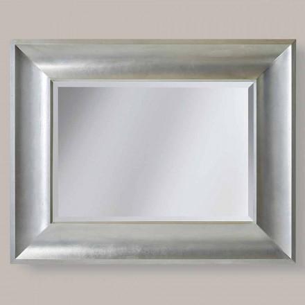 Pasqyrë mur / ari argjendi në dru ayous, e bërë në Itali, Silvio