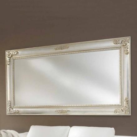 Pasqyra e murit punuar me dorë nga druri ayous, prodhuar në Itali, Alessio