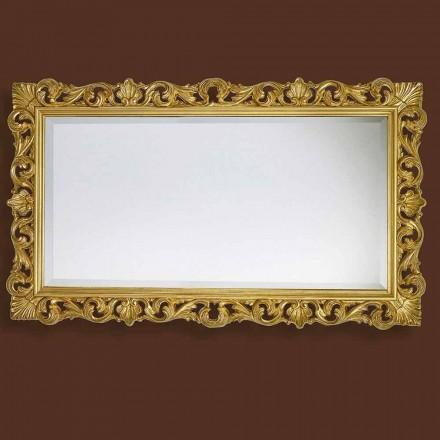 Pasqyra moderne e punuar me dorë nga druri, prodhuar plotësisht në Itali, Nicol